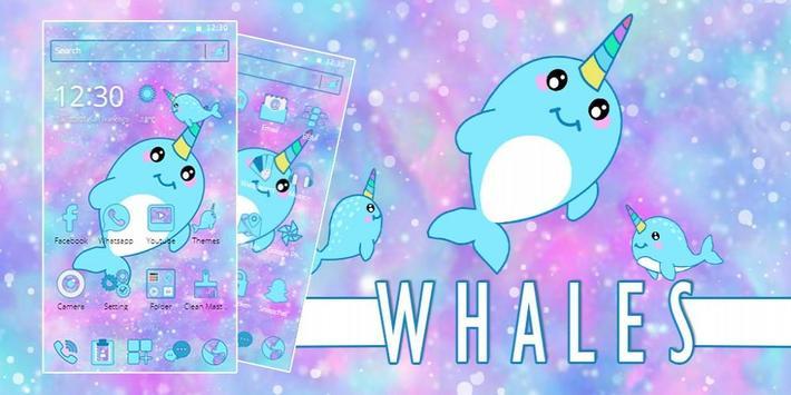 Baby Unicorn Whales Theme screenshot 3