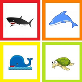 Sea creatures - play on words icon