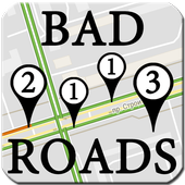 Detector of the bad roads icon