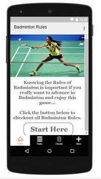 Badminton Rules poster