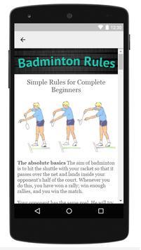 Badminton Rules apk screenshot