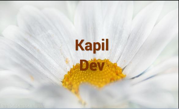 Kapil Dev poster