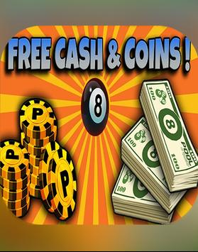 Coins for 8 ball pool prank poster