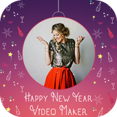 Happy New Year Video Maker icon