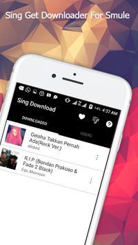 Sing Get Downloader For Smule poster