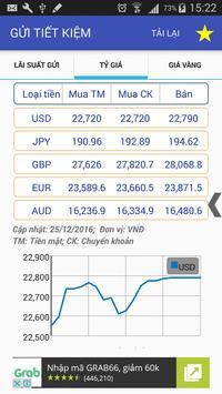 Lãi suất - Tỷ giá - Vàng apk screenshot