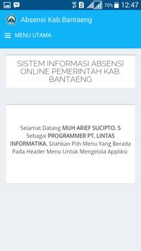 Absensi Online Pemda Bantaeng screenshot 2