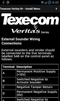 Texecom Veritas Manual apk screenshot
