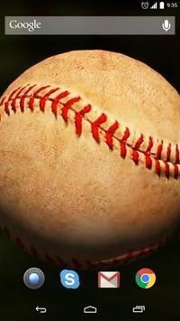 Baseball Ball Live Wallpaper apk screenshot