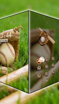 Baseball theme cool brave poster