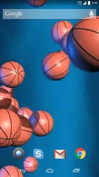 Basketball Ball Live Wallpaper apk screenshot