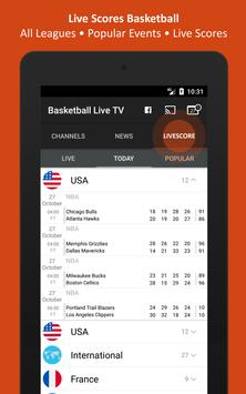 Basketball TV Live - NBA Television - Live Scores apk screenshot