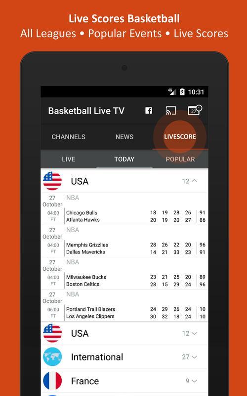 basketball live tv