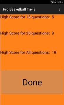 Pro Basketball Trivia 截图 3