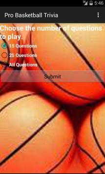 Pro Basketball Trivia 截图 1