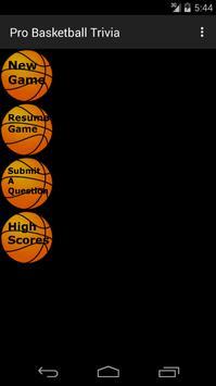 Pro Basketball Trivia 截图 2