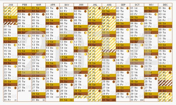 Year planner 2014 2015 free poster