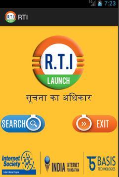 RTI Act India poster