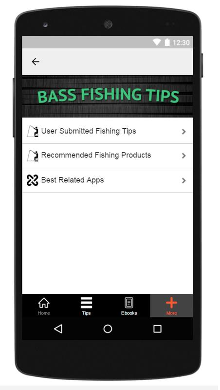 Bass fishing tips apk download free lifestyle app for for Bass fishing apps