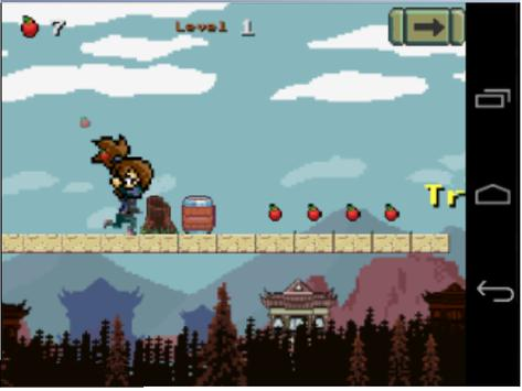 Ninja Girl Adventure apk screenshot