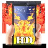 Fire On screen Prank icon