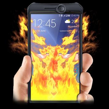 Fire On screen Prank poster