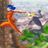 juegos de ladybug and Cat noir icon