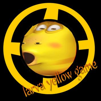 larva yellow be a hero poster