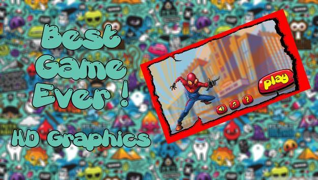 Spiderman run poster