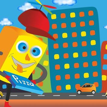 Sponge Boy Pizza poster