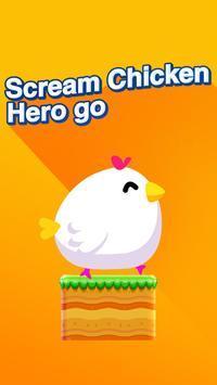 scream chicken hero go poster