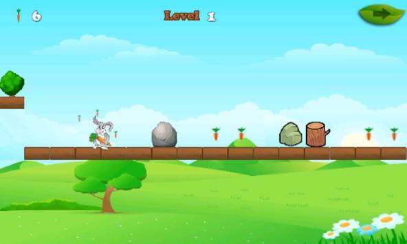 Rabbit And Carrots Run Game apk screenshot