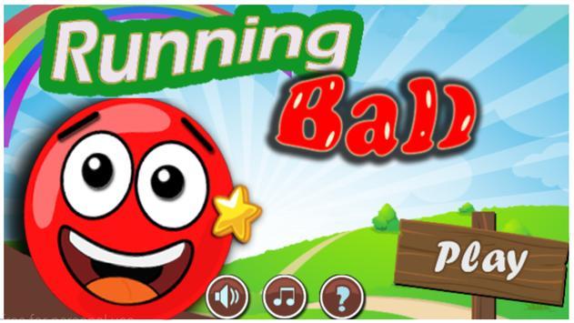 Run red ball poster