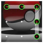 Pattern lock pokeball icon