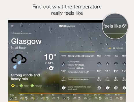 BBC Weather apk screenshot