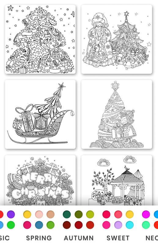 christmas tree coloring book xmas coloring screenshot 2