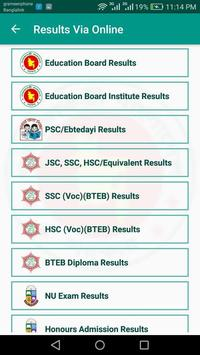 BD Exam Results screenshot 1