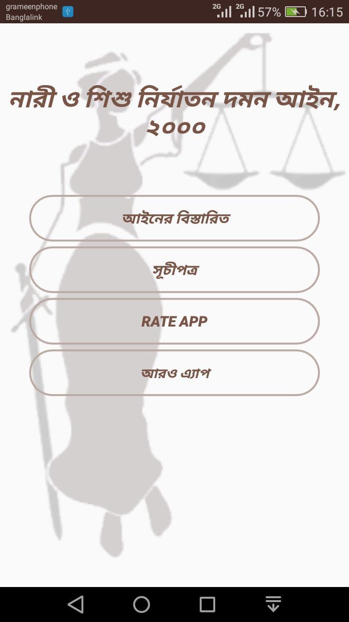 নারী ও শিশু নির্যাতন দমন আইন poster