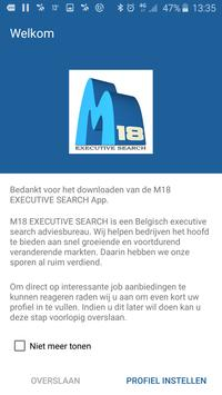 M18 EXECUTIVE SEARCH poster