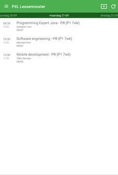 Lessenroosters PXL-IT apk screenshot