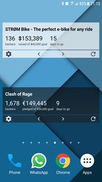 Crowdfund Tracker Widget poster