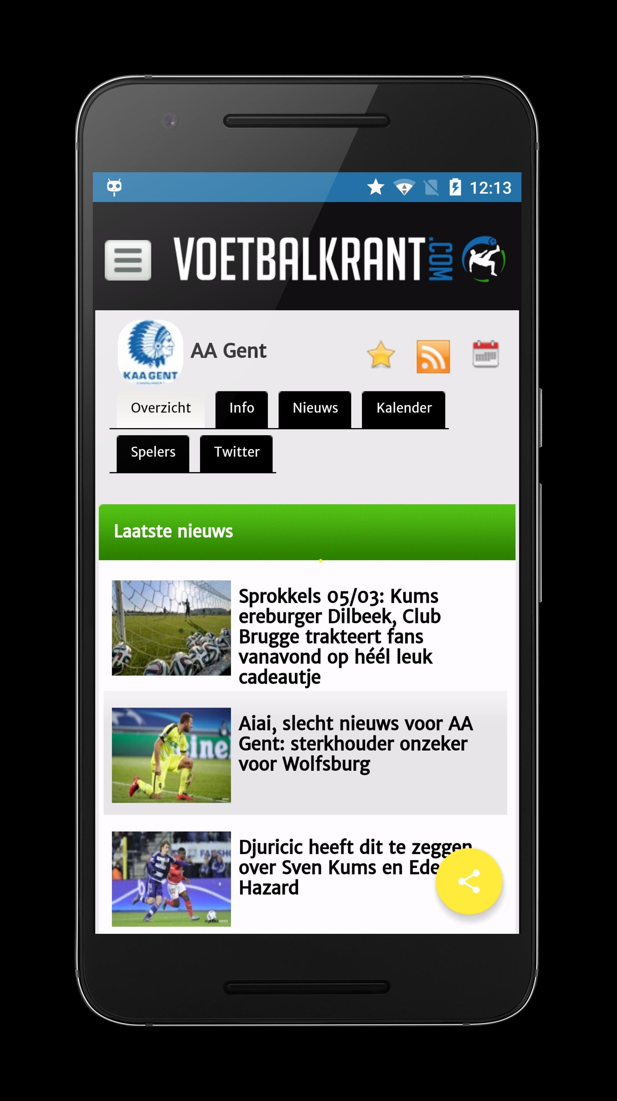 AA Gent Buffalo Voetbal Nieuws für Android - APK herunterladen