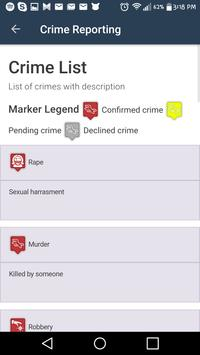 Crime Reporting screenshot 2