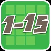 1 to 15 icon