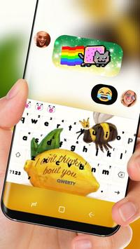 Bee Lemon Keyboard Love I Miss You screenshot 2