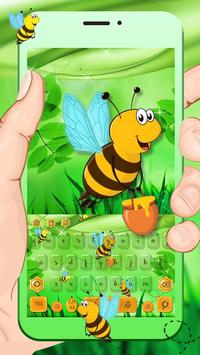 Bees keyboard Theme poster