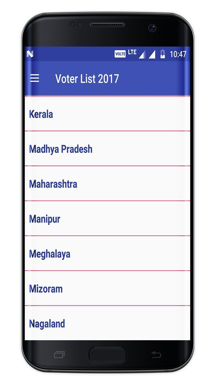 Voter List 2018 (Online Check Name on Voter List) for Android - APK