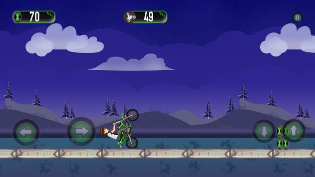 Ben motorbike Jungle Race apk screenshot