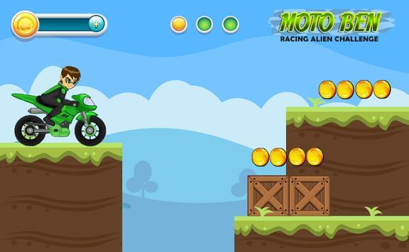 Moto Ben Racing Alien Challenge apk screenshot