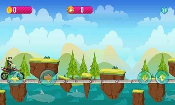 Ben Jungle Motorbike Race apk screenshot